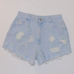 "LEE *VINTAGE * Hand Distressed  ""MOM"" Shorts"